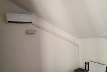 air con fitted attic